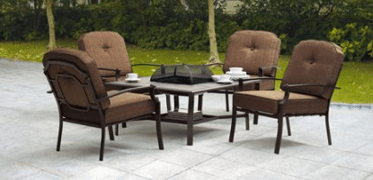 Wentworth 5-Piece patio furniture with fire pit