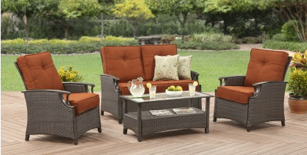 Better Homes and Gardens Oak Terrace wicker patio conversation set