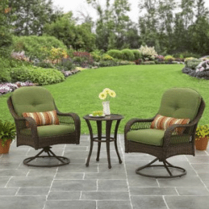 Wicker patio furniture sets-Azalea Ridge Resin Wicker Chat Set