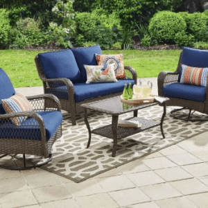 Wicker patio furniture sets-Colebrook resin wicker conversation set