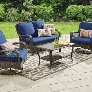 Colebrook 4-Piece Resin Wicker Patio Furniture Sets Review