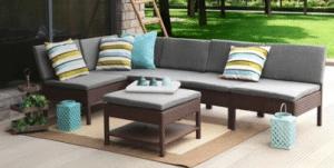 Baner Garden Chair set with ottoman