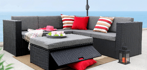 Baner Gardens Outdoor Patio Sectional Furniture Sets