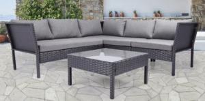 Baner Garden sofa set with open legs