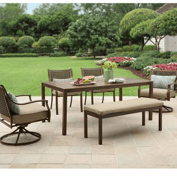 4 Large Patio Dining Furniture sets
