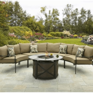 Better Homes and Gardens Ridgewell chat set with fire pit