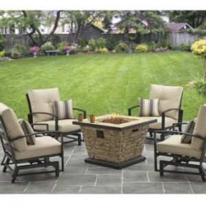 Better Homes and Gardens Sandridge Gas Fire Pit Conversation Set