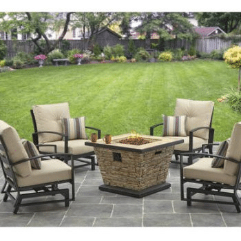 Four Gas Fire Pit Patio Sets