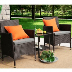Baner Garden resin wicker chairs and table set