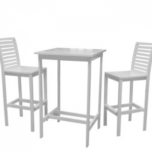 Bradley Acacia bistro bar height patio sets