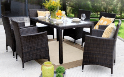 Baner Gardens Resin Wicker Dining furniture