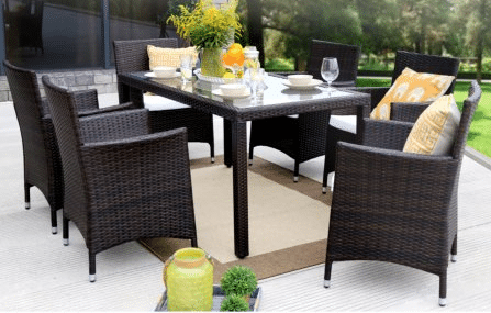 Baner Gardens Resin Wicker Dining furniture