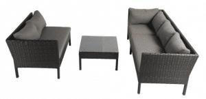 Baner Garden black sofa set as conversation set