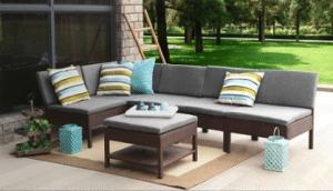 Baner Garden chairs as sofa with ottoman