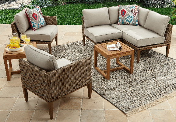 Davenport Resin Wicker Outdoor Sectional Patio Furniture