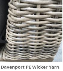 Davenport resin wicker Yarn