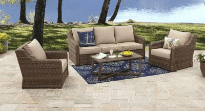 Resin Wicker patio sets from the Hawthorne Park collection