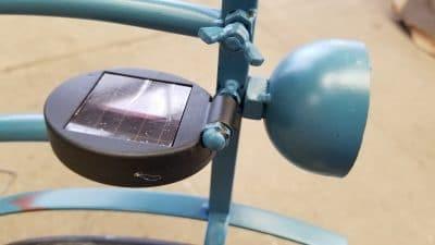 Solar panel for garden bike