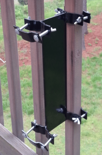 Deck bracket for umbrella