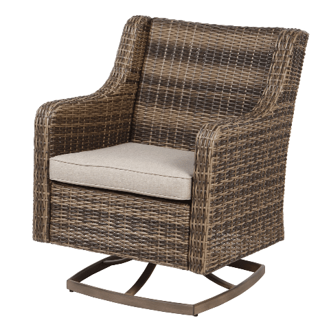 Resin Wicker Outdoor Furniture-Hawthorne Park Swivel Rocker