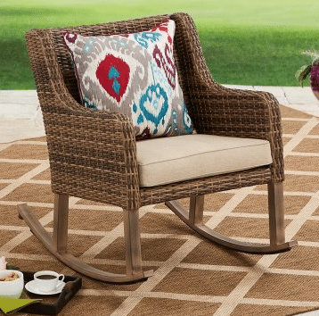 Resin Wicker Outdoor Furniture-Hawthorne Park resin wicker rocker