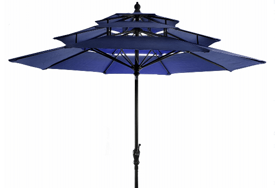 Jordan three tiered blue market umbrella