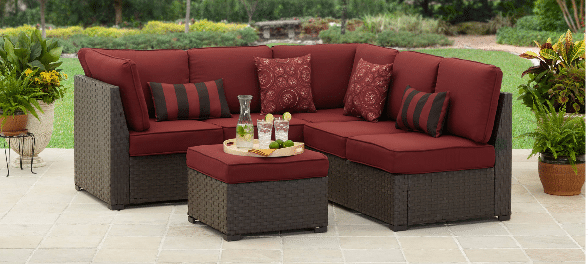 Rush Valley sectional set simple house staging ideas