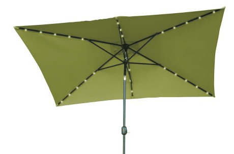 Five Patio Umbrella with Solar Lights