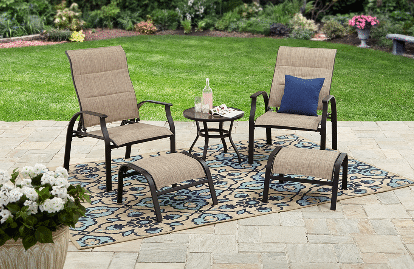 5 metal patio chat sets