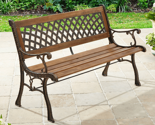 6 Metal Patio Benches for your garden path