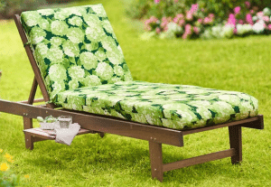 small patio sets for balconies-Eucalyptus Chaise Lounge With Cushion