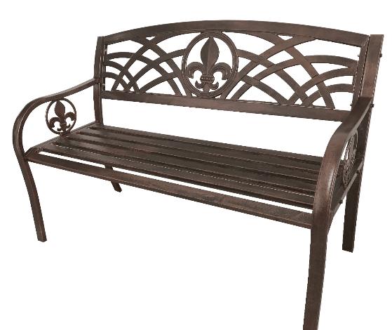 Fleur De Lis Metal Bench