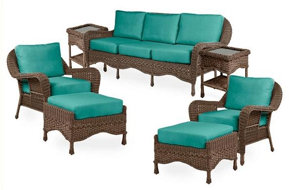 Prospect Hill resin wicker sofa set