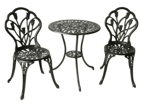 Tulip patio bistro set