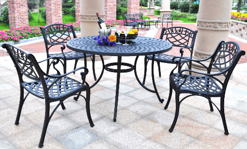 Crosley Sedona dining set with 48 inch table