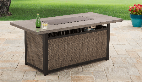 Better Homes and Gardens rectangle propane fire pit top cover