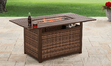Better Homes and Gardens rectangle propane fire pit