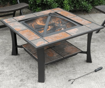 Axxonn Malaga square wood burning fire pit