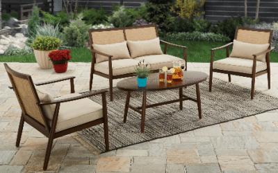 Better Homes and Gardens Vaughn 4 piece Patio Conversation Set review