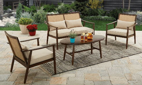 Better Homes and Gardens Vaughn 4 piece Patio Conversation Set review