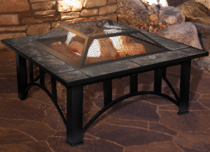 Pure Garden Marble top fire pit