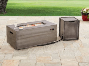 Better Homes and Gardens rectangular fire pit with remote tank