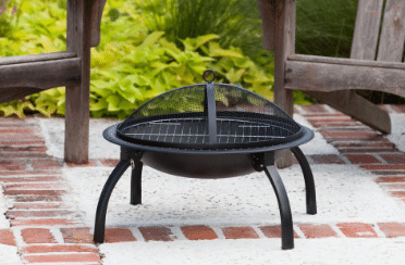 Folding wood burning fire pit