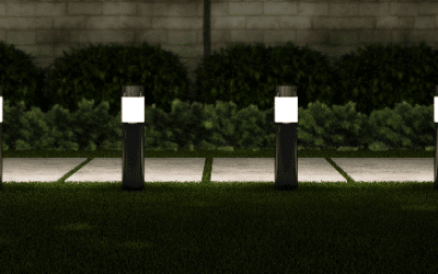 Solar powered Bollard lights for your driveway or walk