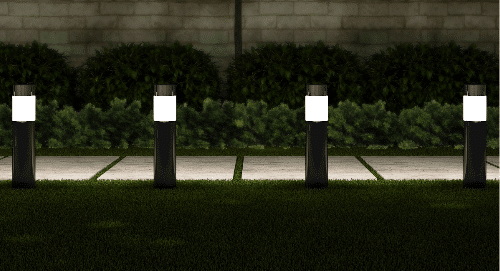 solar powered bollards walkway lighting