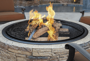 Stone look wood burning fire pit