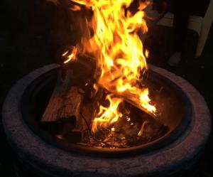 Sun Joe fire pit fire