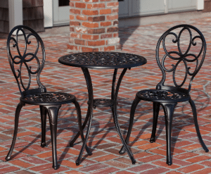 Patio Sense cast aluminum bistro set