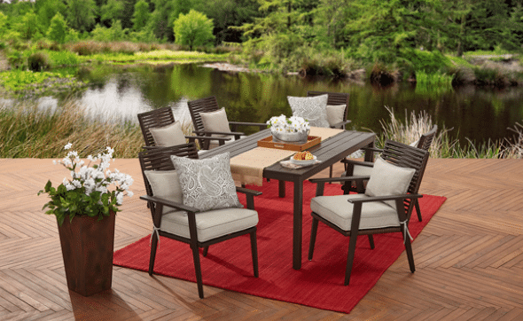 Better Homes and Gardens Glenmere metal patio dining furniture