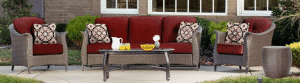 Hanover Gramercy 5 piece patio conversation set